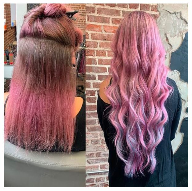 pink-hair-extensions-asheville-nc-hair-salon
